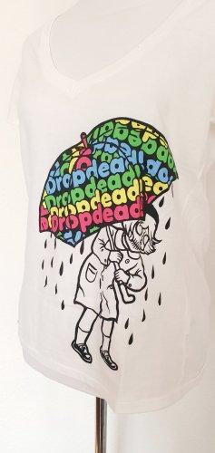 Drop Dead Rain Shirt weiss mit Print Olli Sykes BMTH Shirt Gr 38