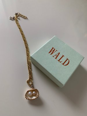WALD Shell Necklace gold-colored metal
