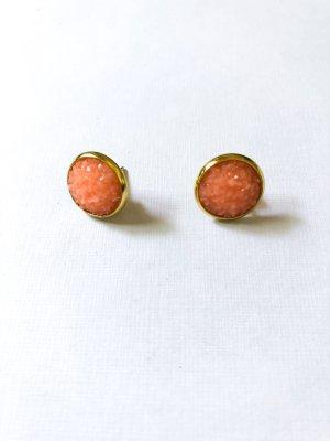 Druzy Ohrringe apricot