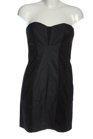 Dry Lake schulterfreies Kleid hellgrau-schwarz Elegant