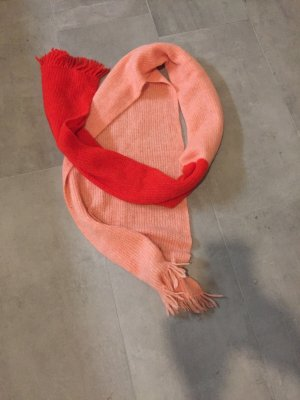 Drykorn Wollen sjaal rood Alpacawol