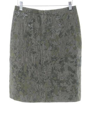 Drykorn Bleistiftrock schwarz-hellgrau abstraktes Muster Business-Look