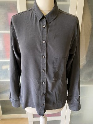 Drykorn for beautiful people Blouse en soie gris anthracite-taupe soie