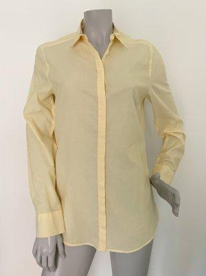 Drykorn Camicetta a maniche lunghe giallo pallido-bianco Cotone