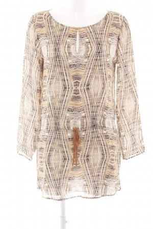 Drykorn Blouse Dress cream-brown abstract pattern casual look