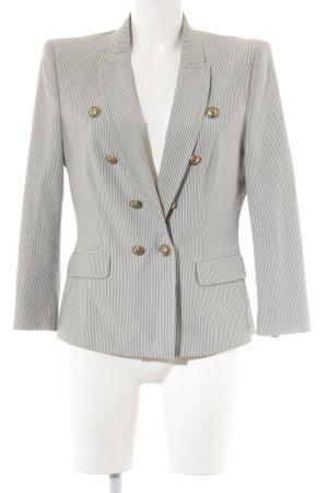 Drykorn Boyfriend-Blazer weiß-grau Streifenmuster Business-Look