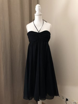 Drykorn Robe chiffon noir coton