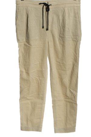 Drykorn Pantalone di velluto a coste crema stile casual