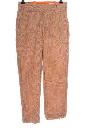 Drykorn Corduroy broek licht Oranje-wit gestreept patroon casual uitstraling