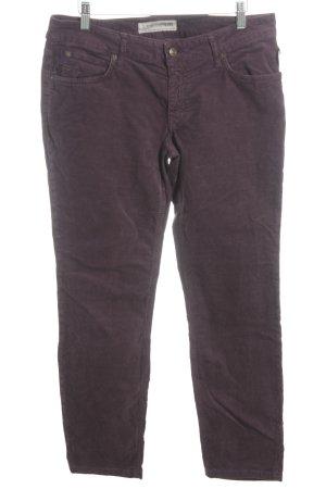 Drykorn Pantalon en velours côtelé rouge mûre