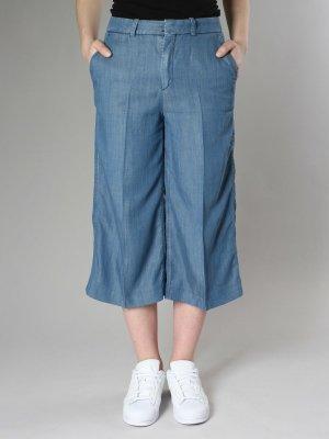 Drykorn Pantalone culotte blu acciaio Lyocell