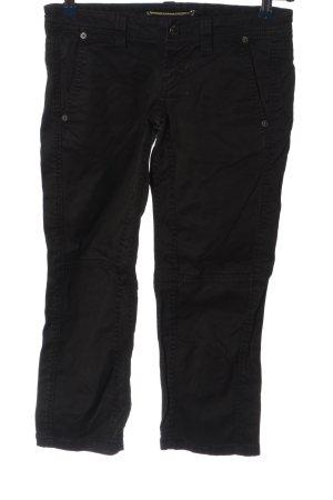 Drykorn for beautiful people Spodnie 3/4 czarny W stylu casual