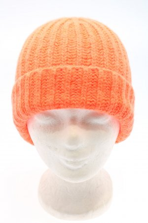 Drykorn for beautiful people Beanie licht Oranje kabel steek casual uitstraling