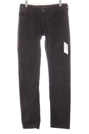 Drykorn Pantalón de pana marrón-negro estilo sencillo