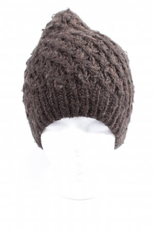 Drykorn for beautiful people Crochet Cap black-light grey cable stitch