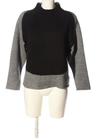 Drykorn for beautiful people Crochet Sweater light grey-black flecked