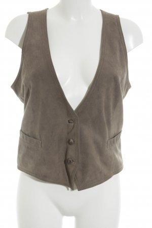 Drykorn Leather Vest beige classic style