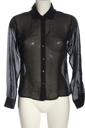 Drykorn for beautiful people Zijden blouse zwart zakelijke stijl