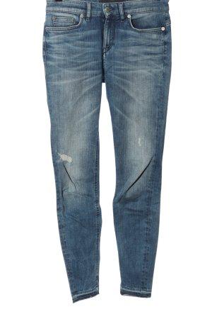Drykorn for beautiful people Dopasowane jeansy niebieski W stylu casual