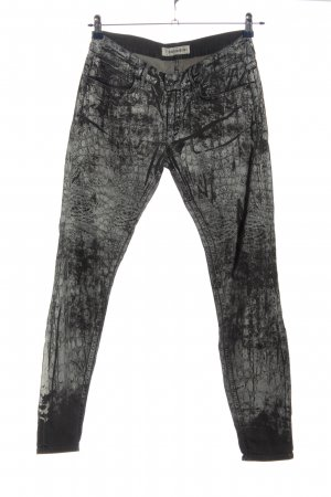 Drykorn for beautiful people Jeans stretch gris clair-noir motif animal