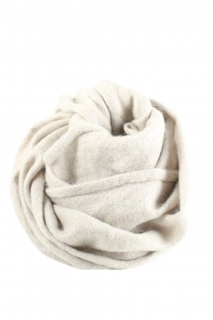 Drykorn for beautiful people Knitted Scarf natural white cable stitch