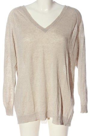 Drykorn for beautiful people V-Ausschnitt-Pullover wollweiß meliert Casual-Look