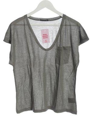 Drykorn for beautiful people V-Ausschnitt-Shirt hellgrau meliert Casual-Look