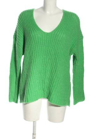 Drykorn Grobstrickpullover grün Casual-Look