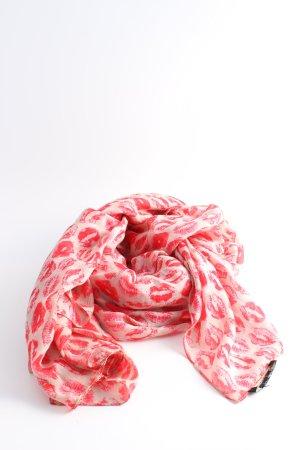 Drykorn Fazzoletto da collo crema-rosso stampa integrale elegante