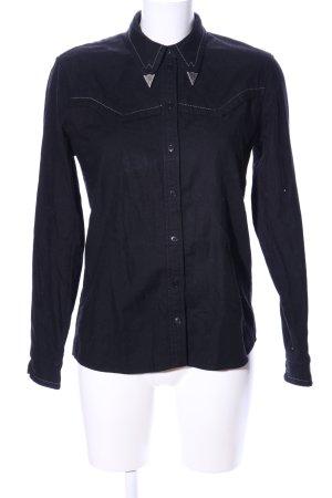 Drykorn Hemd-Bluse blau Casual-Look