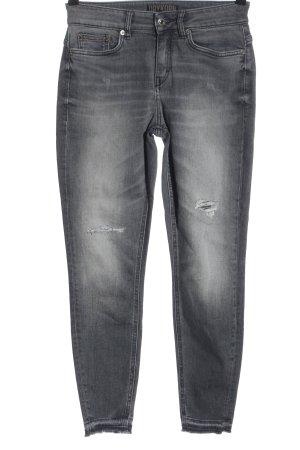 Drykorn Jeans a vita alta grigio chiaro stile casual