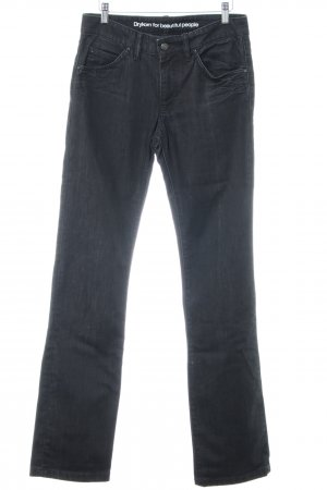 Drykorn Hoge taille jeans zwart casual uitstraling