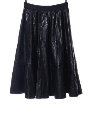Drykorn Jupe taille haute noir tissu mixte