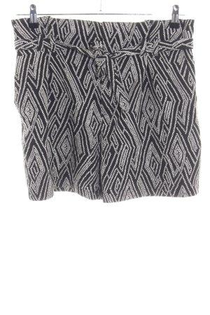 Drykorn High-Waist-Shorts schwarz-weiß Allover-Druck Casual-Look
