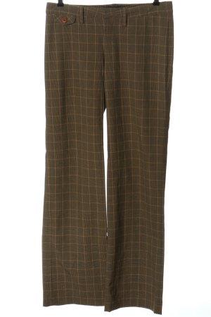 Drykorn Pantalone a vita bassa marrone motivo a quadri stile professionale
