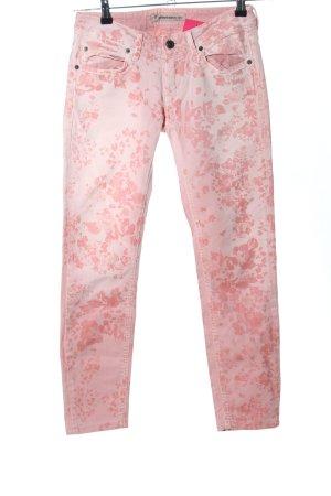 Drykorn Hüftjeans pink Blumenmuster Casual-Look