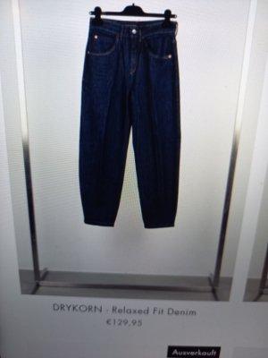 Drykorn Workowate jeansy niebieski Tkanina z mieszanych włókien