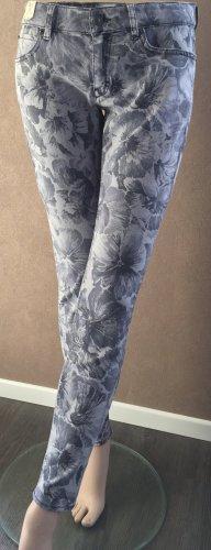 Drykorn Jeans mit Blumenprint grau
