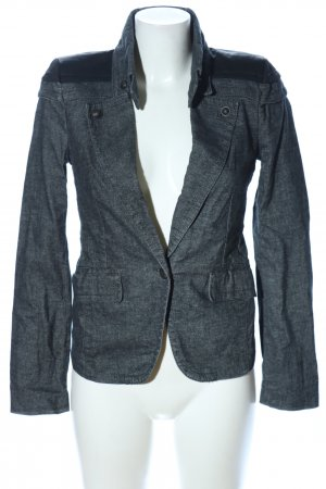 Drykorn Jeansblazer hellgrau Webmuster Casual-Look