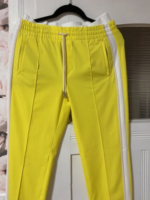 Drykorn Trackies yellow-white cotton