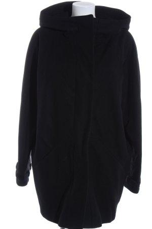 Drykorn Manteau à capuche noir style décontracté