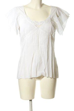 Drykorn Kurzarm-Bluse weiß Casual-Look