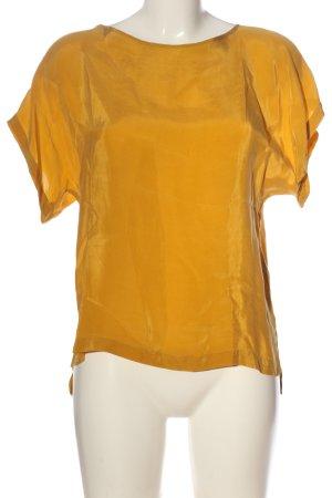 Drykorn Kurzarm-Bluse blassgelb Casual-Look