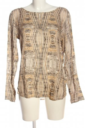 Drykorn Langarm-Bluse Allover-Druck Casual-Look