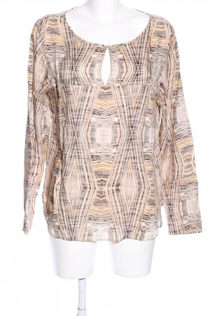 Drykorn Langarm-Bluse grafisches Muster Casual-Look