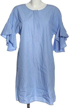 Drykorn Langarmkleid blau Webmuster Casual-Look