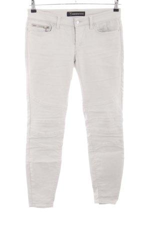 Drykorn Pantalon en cuir blanc cassé style décontracté