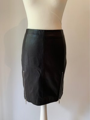 Drykorn Leather Skirt black leather