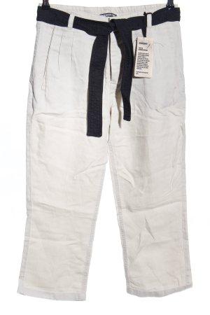Drykorn Pantalone di lino bianco sporco stile casual