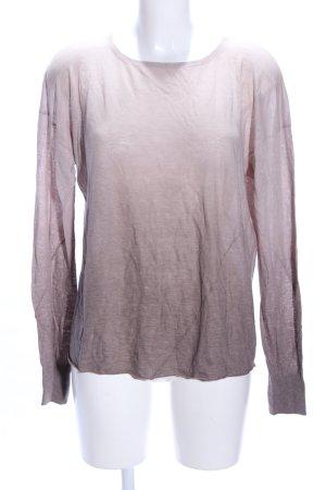 Drykorn Longsleeve braun-pink Farbverlauf Casual-Look